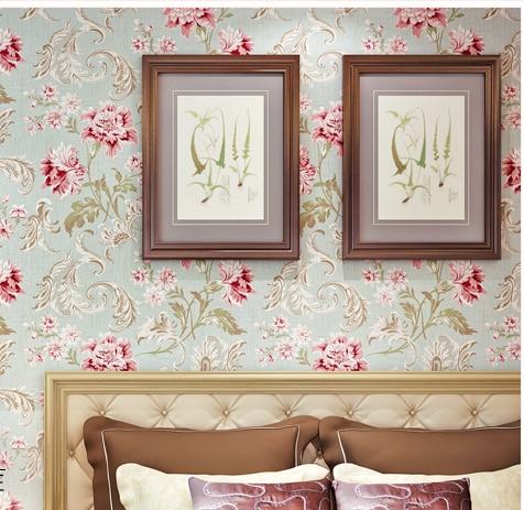 Flower wallpaper for living room for Red flower wallpaper living room
