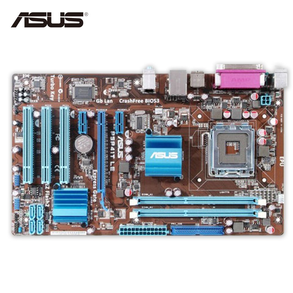Asus P5P41T LE Desktop Motherboard G41 Socket LGA 775 DDR3 8G SATA2 USB2.0 ATX Second-hand High Quality le 40tl1600 motherboard t ms18vg 81b 11467 with screen tx4a24 fhd