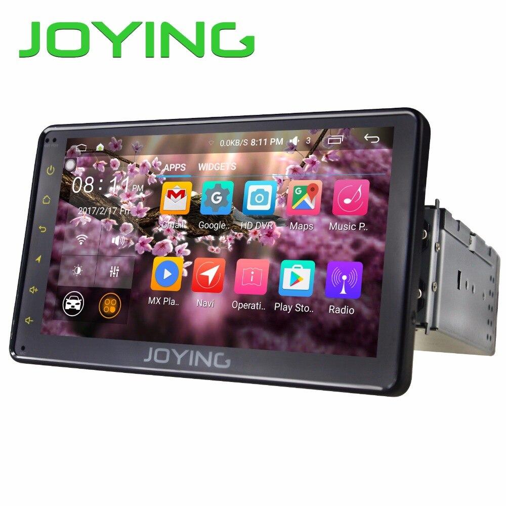 7 1 JOYING Novo Single DIN Android 6.0 Quad Core Unidade de Cabeça Do Carro Universal Rádio Estéreo GPS Navigation PIP volante DVR Cam