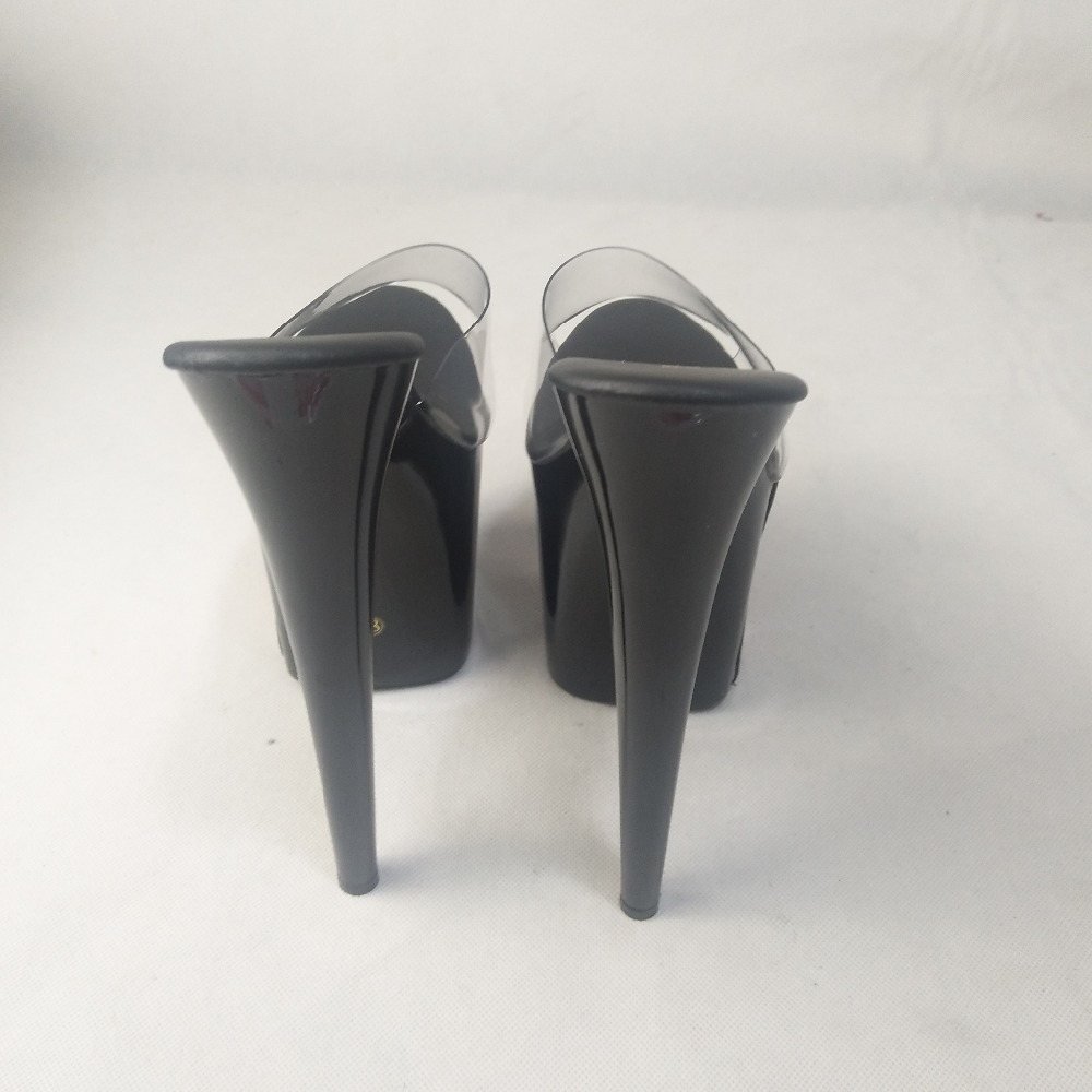 Diapositives Ultra Unique 8 Cm Plate À Femmes Haut Talons Boucle Talon Effacer 01 Pouce 02 Qualité Hauts De 20 forme Haute Stripper Chaussures WCedBxor
