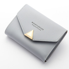 New Women Wallet PU Leather Female Short Card Holder Coin Purse Girl Brand Mini Billfold Purse Ladies Carteira Fashion Wallets(China)