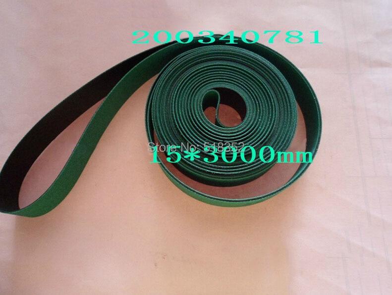 200340781 Charmilles Belt 15 x 3000 mm Green ( with one side black), Wire EDM Machine Spare Parts 341408 charmilles belt 15 x 3100mm green with one side black wire edm low speed machine spare parts