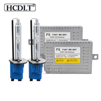HCDLT 55W HID Car Headlight Kit Xenon H11 H1 H7 HB3 HB4 9012 D2H 5500K HID Lamp Bulb Reactor DLT F5 Fast Start 55W Xenon ballast
