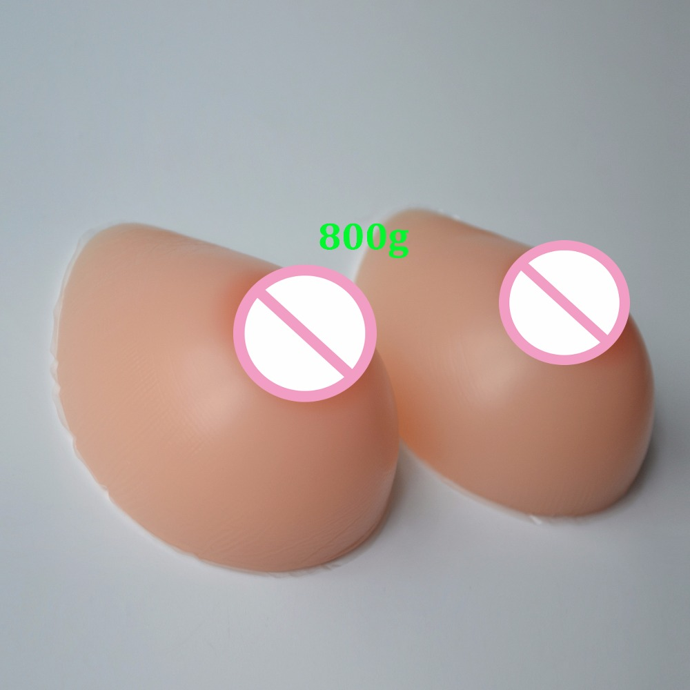 Artificial Silicone Breast Form Fake False Chest Prothesis Boobs Enhancer For Crossdresser Trandsgender 800g/1000g/1200g/1400g breast light detection device for the breast cancer self check up and breast clinical examination