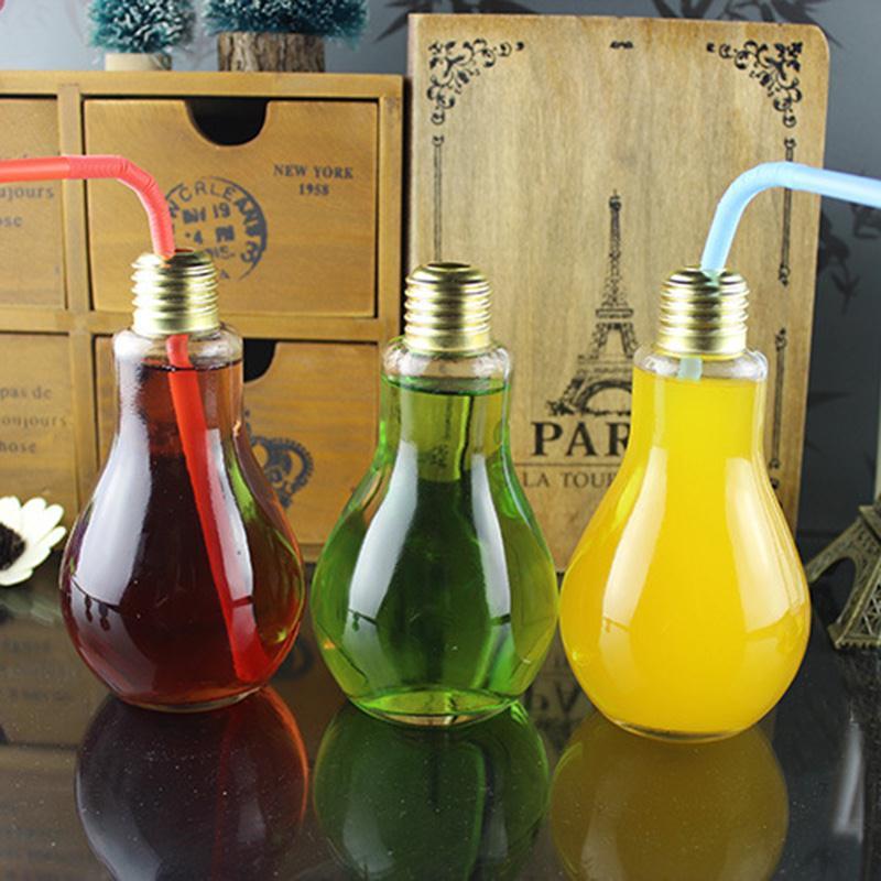 Творческий бутылка-светильник Стекло чашки лампочка воды Посуда для напитков бесплатный  ...