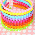 1pcs Girl head hoop band candy colored plastic wave shape children hair headdress lady hairband Headbands accessories for women