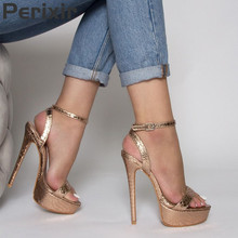 купить Perixir Women High Heels Sandals Sexy Summer Gladiator Platforms Party Wedding Prom Shoes Ladies Buckles Sexy Peep Toe Pumps дешево