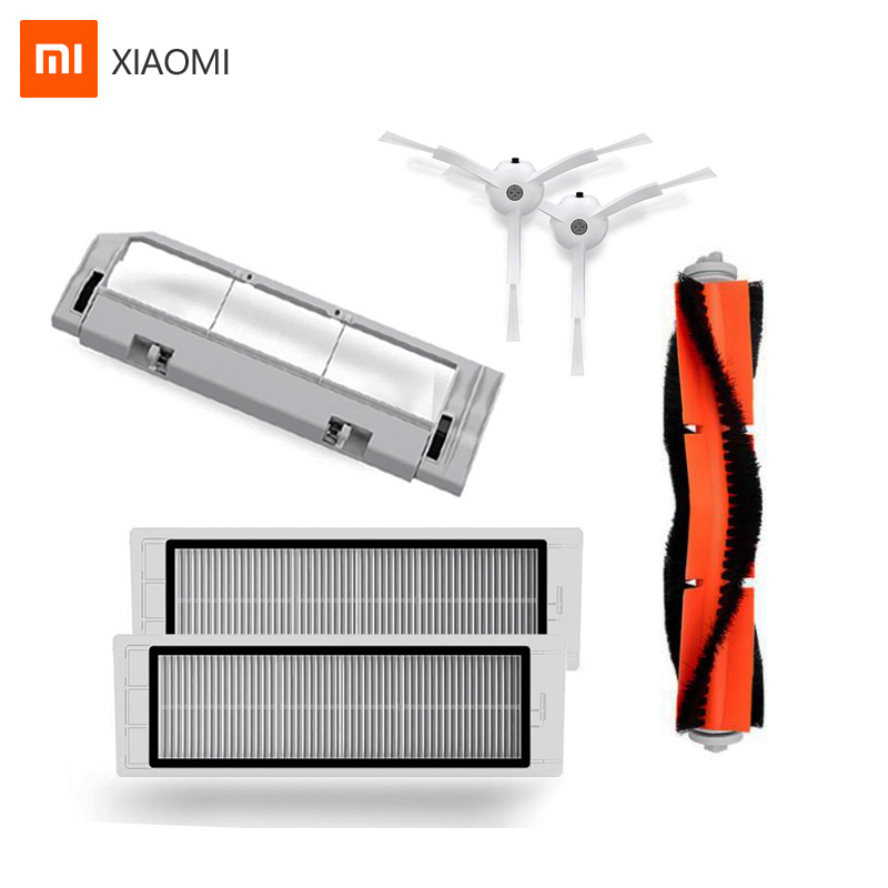 Original Xiaomi Robot Vacuum Cleaner 2 Roborock Spare Parts Kits Main Brush Side Brushes HEPA Filter For Mijia Roborock Vacuum