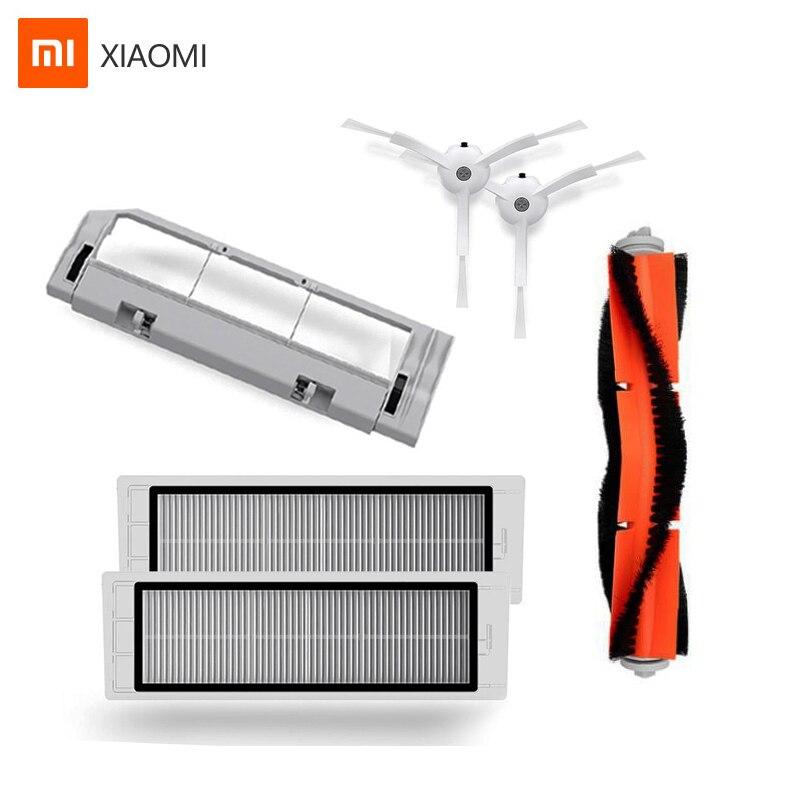 Original Xiaomi Robot aspirateur 2 Roborock pièces de rechange Kits brosse principale brosses latérales filtre HEPA pour aspirateur Mijia Roborock
