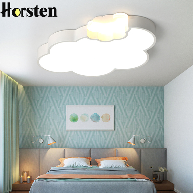 simple led cloud kids baby room lighting creative children ceiling lamp bedroom study room. Black Bedroom Furniture Sets. Home Design Ideas