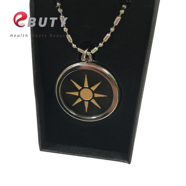 Ebuty transparent bio pendant with stainless steel chain negative ebuty transparent bio pendant with stainless steel chain negative ions pendants including nano card gift aloadofball Images