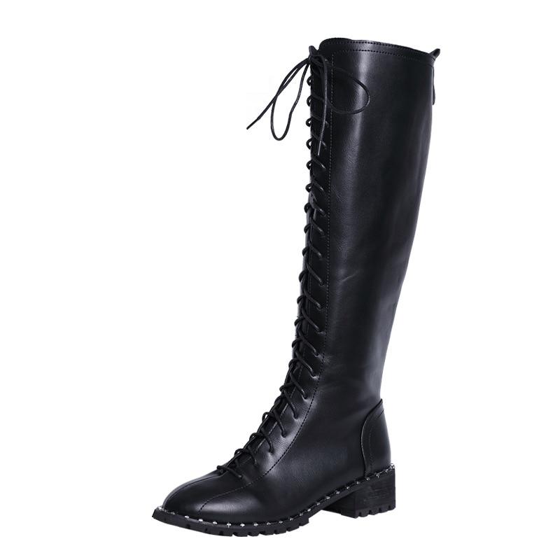 bb546fc414a372 Boot Chaussures Cuisse Croix Bottes Noir Plus Sexy Suède Mince Gladiateur  Femmes Liée De Femelle Dames Long Genou Lacent ...