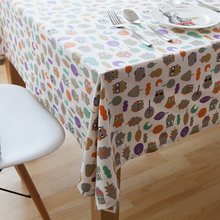 Lovely Colorful Cartoon Owl Pattern Linen And Cotton Table Cloth Desk Cover  Tablecloth Home Decoration Cover In Tablecloths From Home U0026 Garden On ...