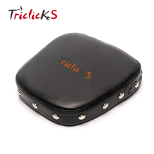 Rivet Synthetic Leather Sissy Bar Backrest Cushion For Harley Honda Suzuki Black