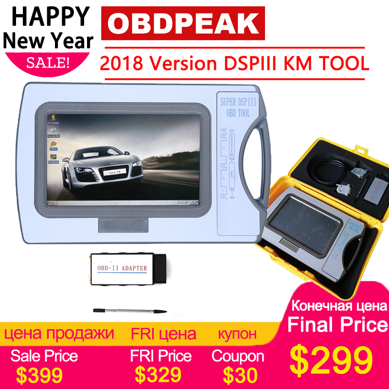 2018 Version Odometer Correction Tool DSP3 DSPIII KM Tool DSP 3 DSP III Work For 2010-2018 Years New Models By OBD2