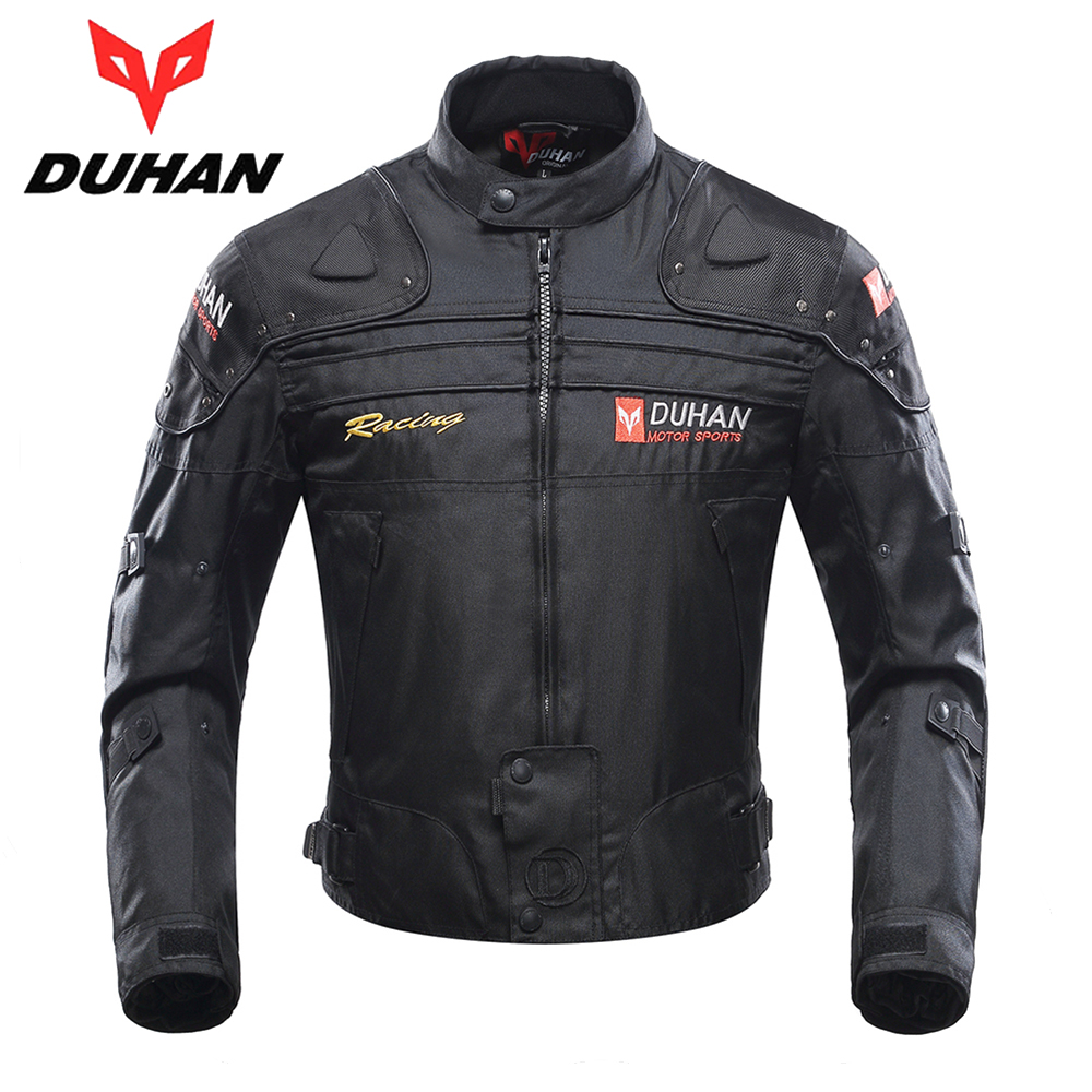 duhan moto veste d 39 hiver corps armure de protection moto veste garder au chaud racing veste moto. Black Bedroom Furniture Sets. Home Design Ideas