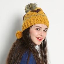 Мода Жаккардового Переплетения Ручной Шапочка Зима Теплая Толстая Вязаная Шапка Шапки