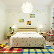 Cartoon Children's Room Non-woven Wallpaper Star Cloud Green Simple Warm Pink Boy Girl Bedroom Wall Paper Roll children s room wallpaper boy bedroom lovely warm cartoon girl princess room pure paper environmental protection star wall paper