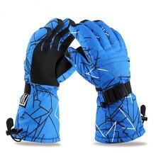 Brand Men Skiing Gloves TPU Bag Waterproof Motorcycle Winter Snowmobile Snowboard Ski Gloves Warm Ride Thick Gloves free ship