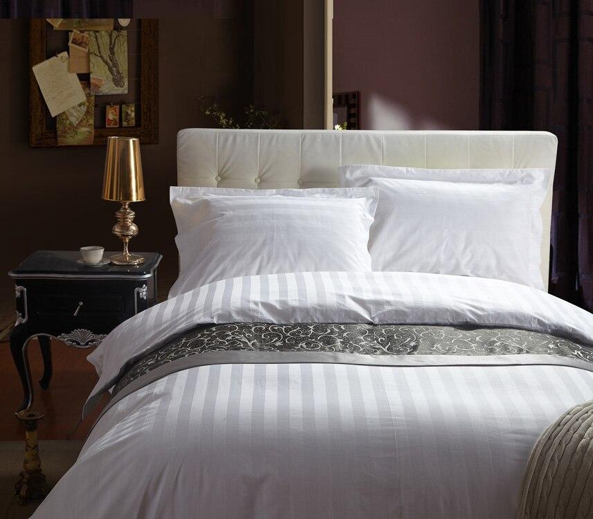 100 Egyptian Cotton 60S 300TC 3cm Satin Strip Luxury