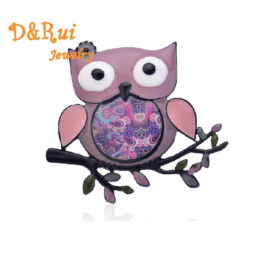Vintage Cute Pins Brooches Fashion Animal Owl Coat Collar Pins For Girls Colorful Flower Party Brooch Jewelry 2019 Brand New in Brooches from Jewelry Accessories