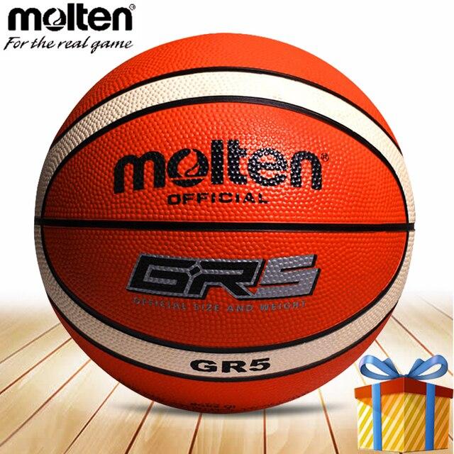 5fbc22282c27b Tamanho de uma bola de basquete Molten 5 menino da menina da criança  crianças balon balão