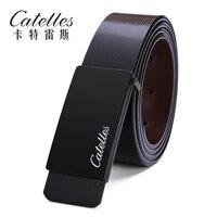 Catelles 2016 дизайнер ремни мужчин высокого качества новый простой стиль пояс для человека двойная сторона может использовать доска пряжки ремн...