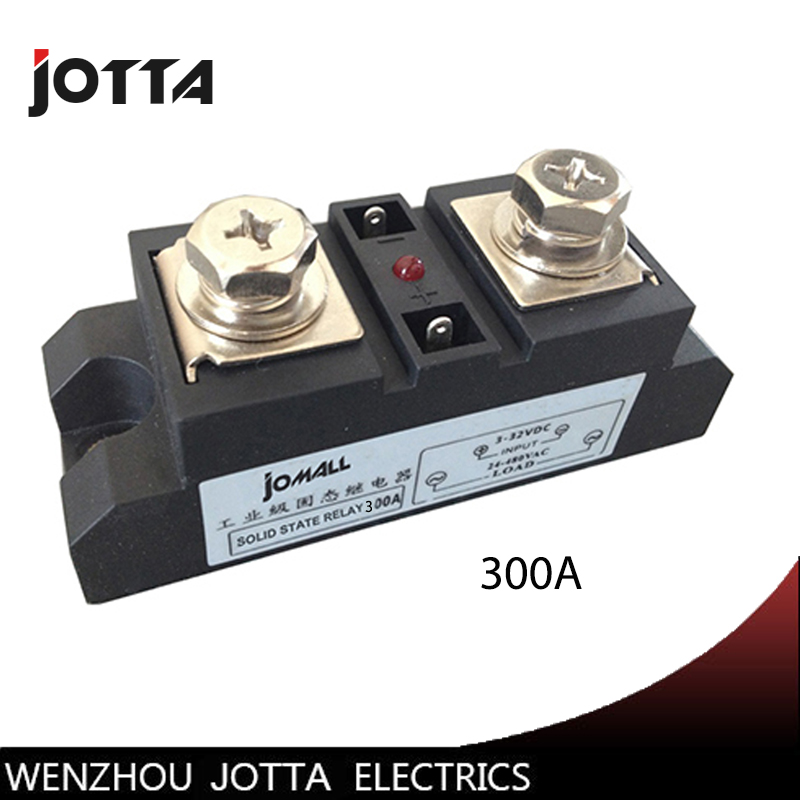 300A Industrial SSR Solid State Relay 300A Input 4-32VDC Output 24-680VAC