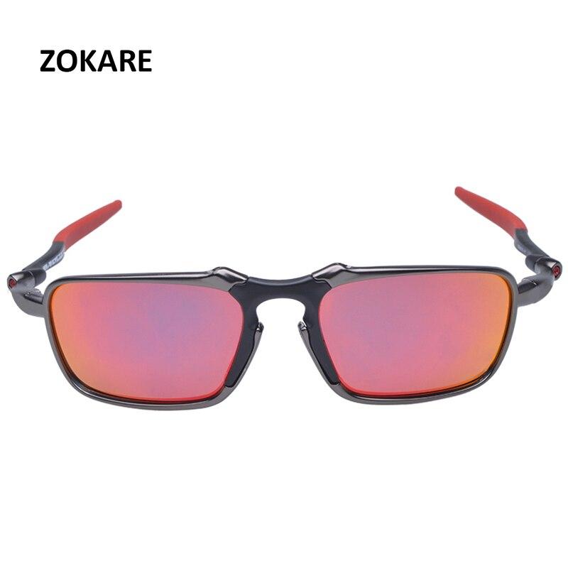 ZOKARE Schutz Radfahren Glas Polarisierte Sonnenbrille Legierung Rahmen Radfahren Googles Brillen Mit Logo oculos de sol