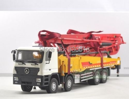 1/35 XCMG Benz Construction mounted concre Truck Diecast Metal Construction vehicles toy 1 35 xcmg benz construction mounted concre truck diecast metal construction vehicles toy