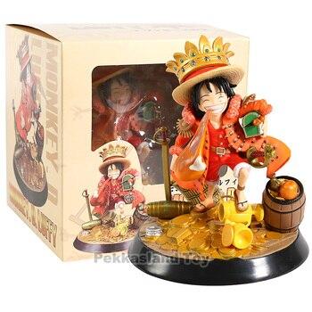 Японское аниме фигурка одна штука сокровище Луффи едят куриные ножки фигурка Коллекционная модель игрушки для мальчиков
