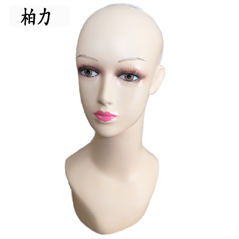 ФОТО Free Shipping Mannequin Dummy Realistic Fiberglass Wig Jewelry Mannequin Head Display Wig Stand