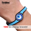 Hottime 1600 ion Energy Eco Silicone Bracelet Hologram Bracelets Power Bands Balance Energy Wristband Silicone Bracelet For Men