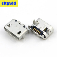 cltgxdd Micro USB Connector B type Female Jack phone tail plug charging port DIP 6.65*7.2 distance big ox horn Curled Mouth