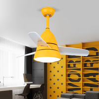 220V Ceiling Fan Light Energy Saving and Environmental Protection Lamp 24W Ceiling Fan Living Room Tricolor Ceiling Light