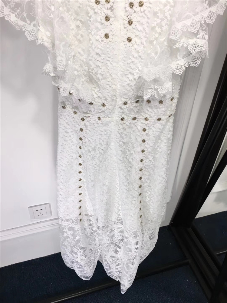 Printemps Fête Fomolayime Évider Mode 2019 Nouveauté De Femme Robe Blanc Robes Femmes Tenue wxUBYxZv