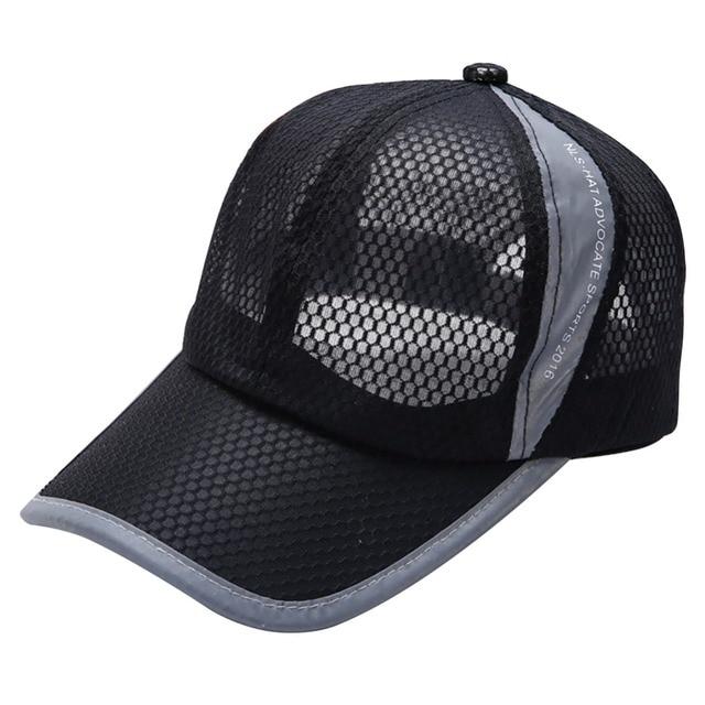 2017 Unisex Womens Mens Breathable Baseball Running Cap Snapback Hats  Summer Adjustable Hat 9e60dffa9b4