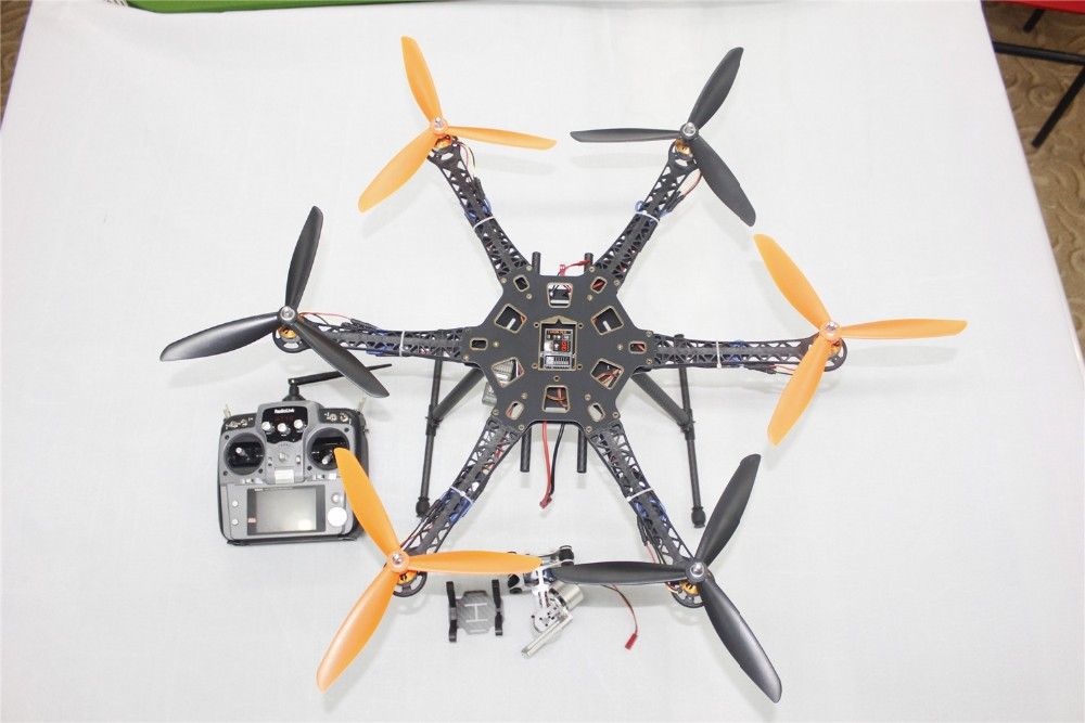 Drone Upgraded Kit HMF S550 9045 3-Prop 6Axle Multi QuadCopter UFO RTF/ARF with 2-Axle Gimbal No Battery / Charger F08618-H f08618 h drone upgraded kit hmf s550 9045 3 prop 6axle multi quadcopter ufo rtf arf with 2 axle gimbal no battery charger fs