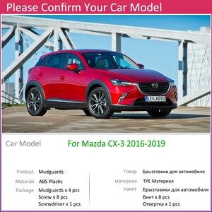 Передний задний брызговик для Mazda CX-3 2016 ~ 2019 CX3 CX 3 Брызговики щитка аксессуары для брызговиков 2017 2018