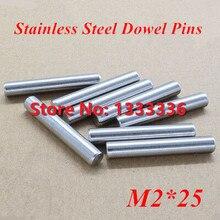 200 шт./лот M2* 25 GB119 Нержавеющая сталь штифты/цилиндрическая булавка диаметр 2 мм