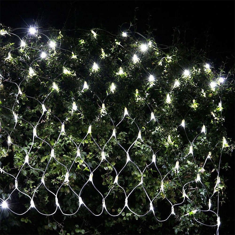 Kmashi led net christmas garland lights 2mx3m 204 leds 4 - Exterior christmas garland with lights ...