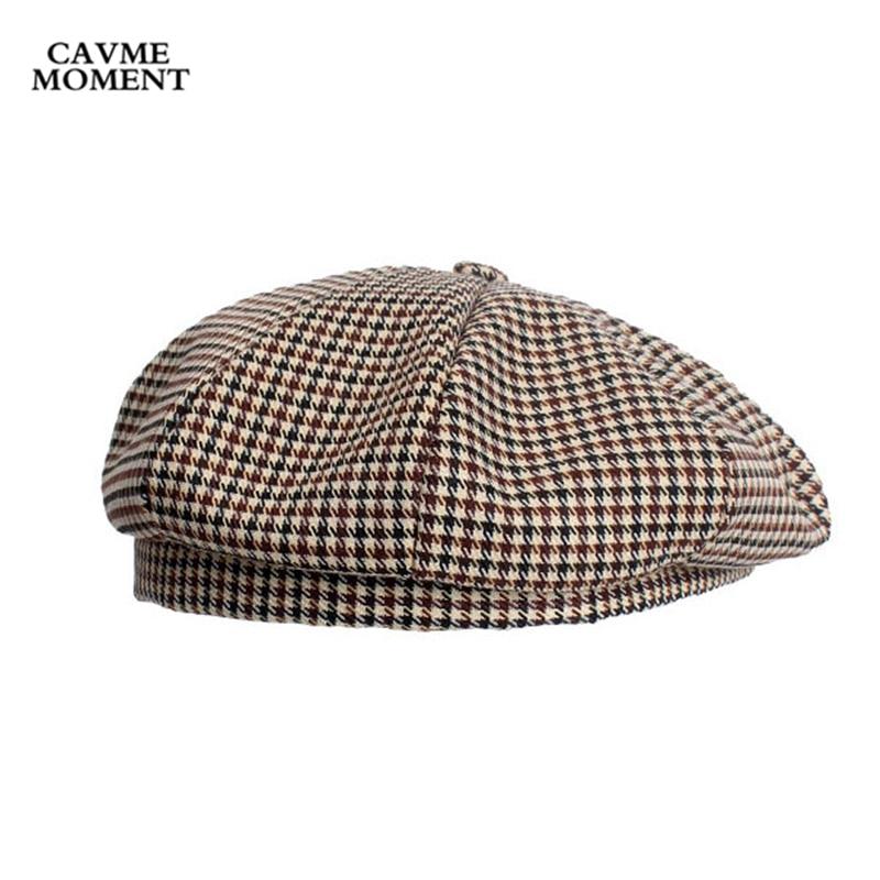 CAVME Casual Men Women Berets Cap Hat Cotton for Ladies Femme Homme Winter Beret 65g 56 58cm Size in Men 39 s Berets from Apparel Accessories