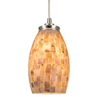 Contemporary Mini Pendant Light Hand Crafted Mosaic Shell Glass lighting for dinning loft Bedside hote Cafe shop hanging lights