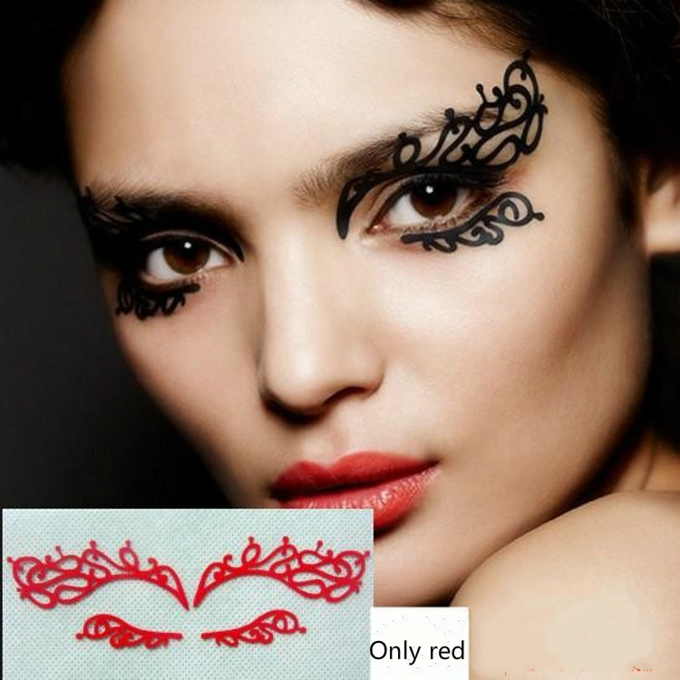 Sexy Beautiful Hollow Eye Shadow Stickers Creative Makeup Stagecraft