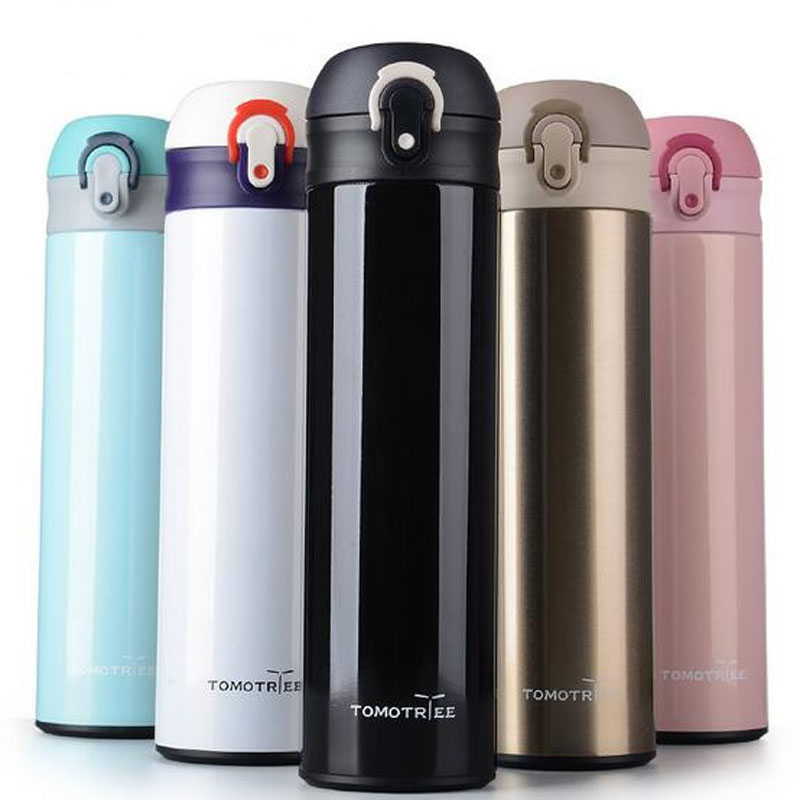 500ml Double Stainless Steel Thermos Tea Mug Bounce Cover Coffee Cup dengan teh infuser garrafa termica Tumbler Bottle Thermocup