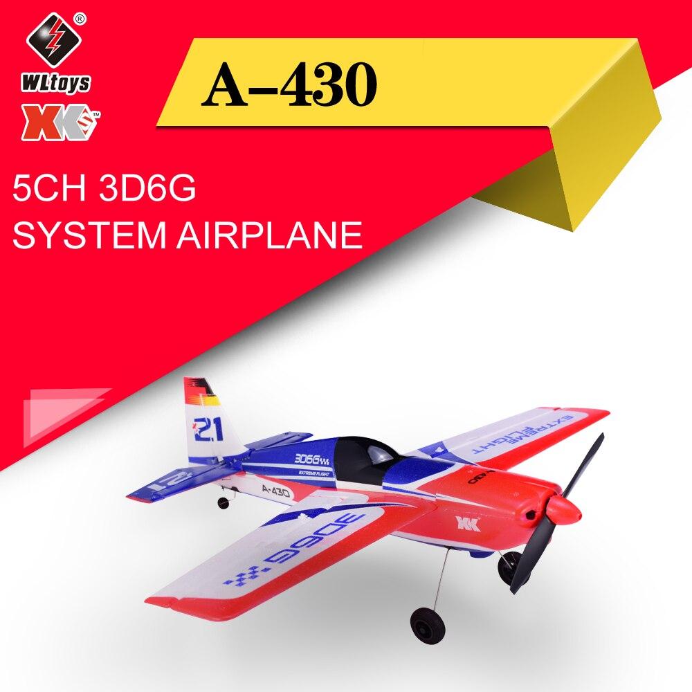 Wltoys XK A430 X4 Sistema Transmissor RC Avião 2.4G 5CH 3D6G Brushless Avião Compatível Com FUTABA S-FHSS Aeronave RC planador