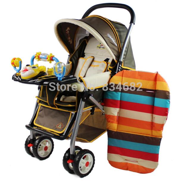 Baby Stroller Cushion Stroller Pad Pram Padding Liner Car Seat Pad Rainbow general cotton thick mat Stroller Mat