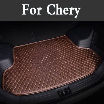 Leather Trunk Cargo Mat Car Sticker Auto Pad Cover For Chery Eastar A3 Qq6 A516 A1 Qqme Qq3 M5 M1 G3 V5 X5 5x Eq Eq1 Fulwin2