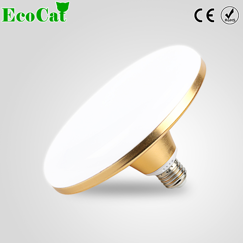 E27 LED Lamp Bulb 220V 40W 50W 60W SMD 5730 Flying Saucer UFO Flat High Power AC 240V Spotlight Light Bulb For Indoor Lighting gotrade s33 e27 6w 260lm 6500k 42 smd 5730 led white light lamp bulb white silver ac 220 240v
