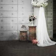 Fondo de fotografía de alfombra Vintage de 5x7 pies para foto de boda fondo de vinilo impreso por ordenador tela Digital vinilo cortina blanca